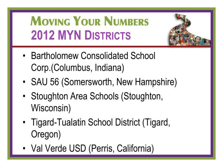 2012 MYN Districts
