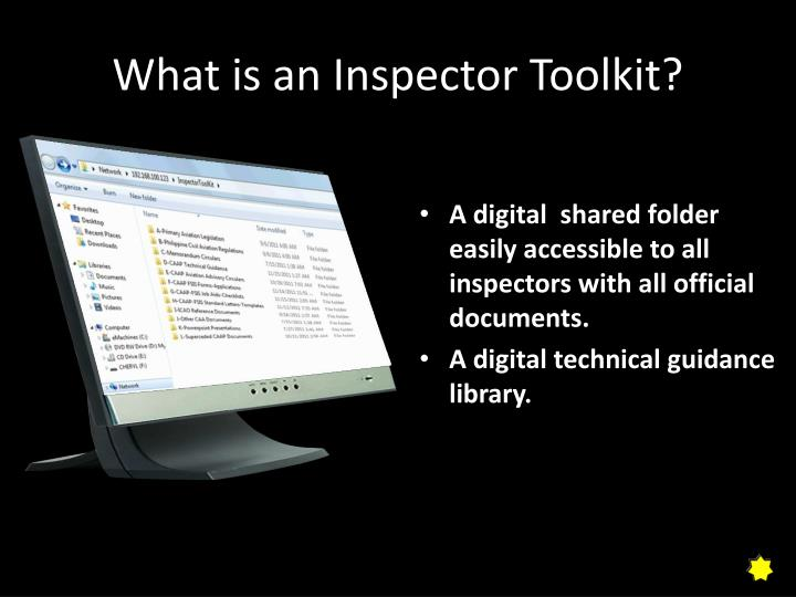 What is an inspector toolkit