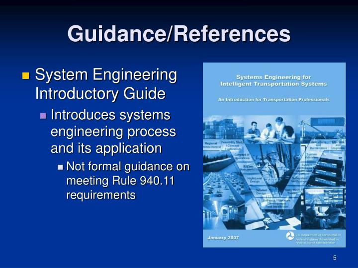 Guidance/References
