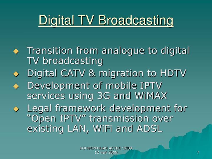 Digital TV Broadcasting