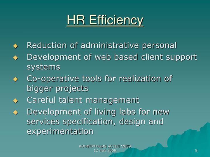 HR Efficiency