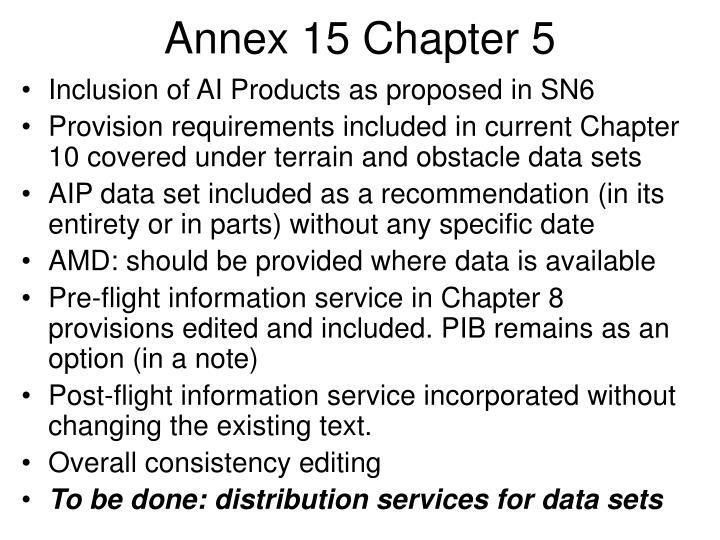 Annex 15 Chapter 5