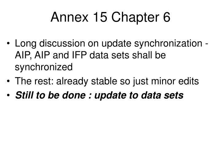 Annex 15 Chapter 6
