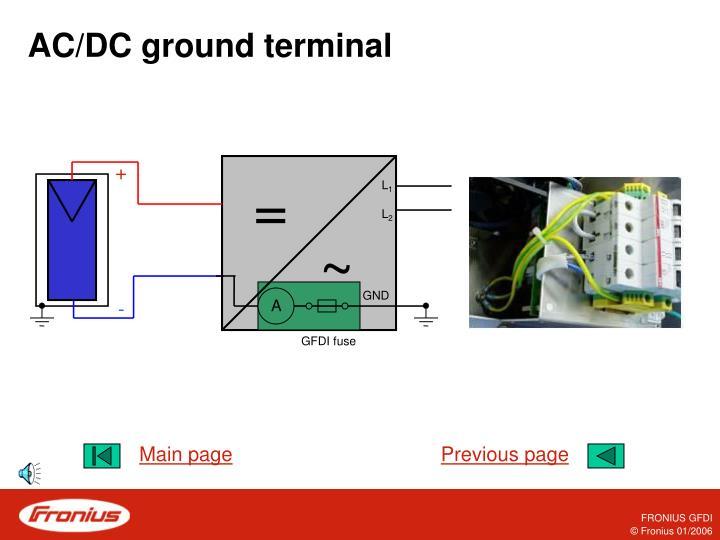 AC/DC ground terminal