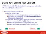 state 434 ground fault led on