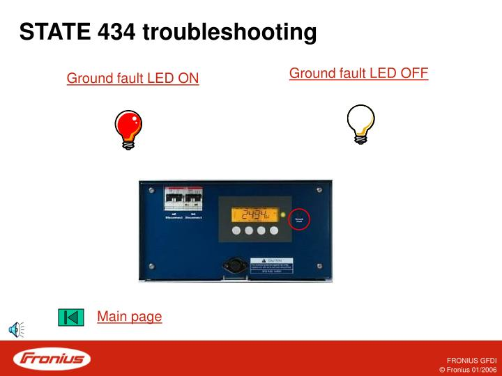 STATE 434 troubleshooting