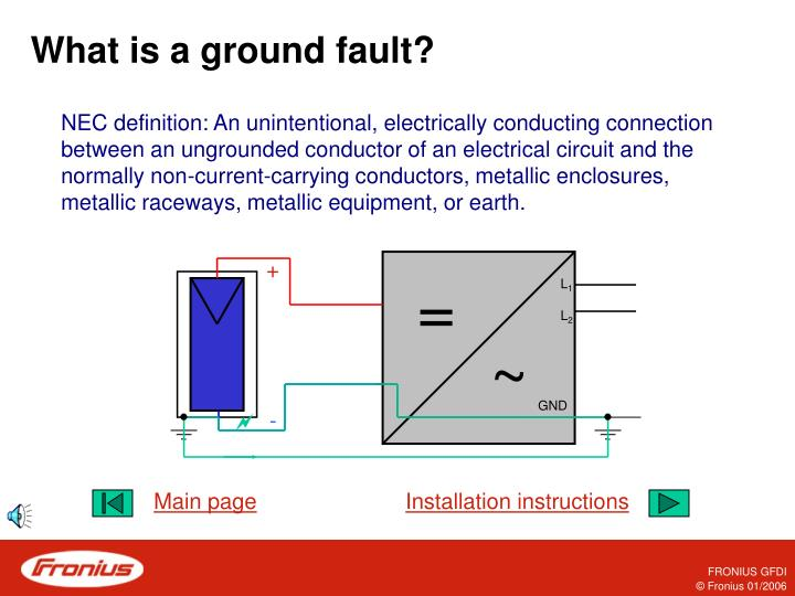 What is a ground fault
