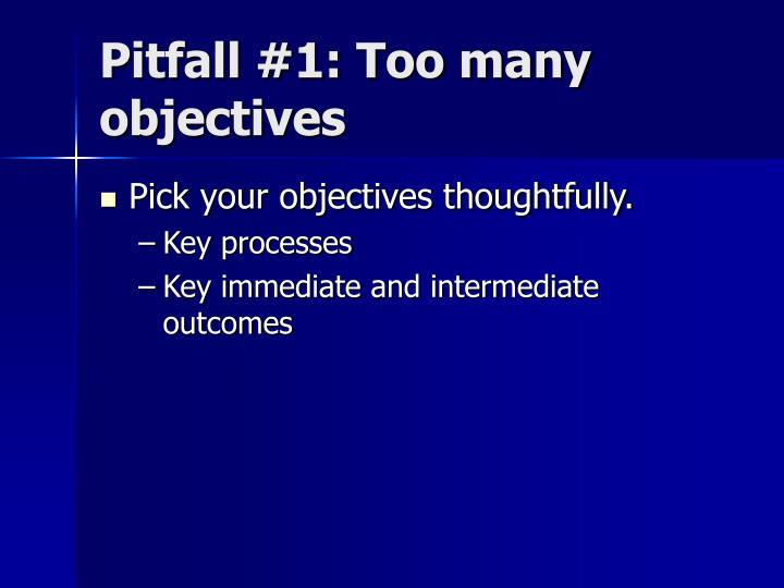 Pitfall #1: Too many objectives