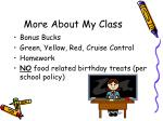 more about my class