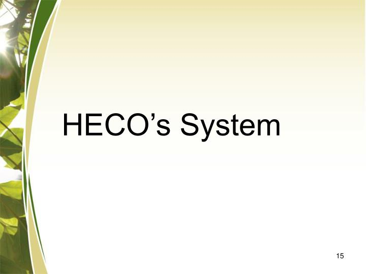 HECO's System