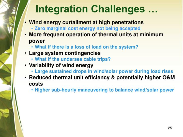 Integration Challenges …