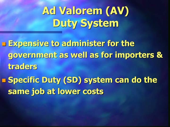 Ad Valorem (AV)