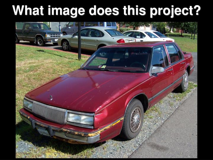 What image does this project?