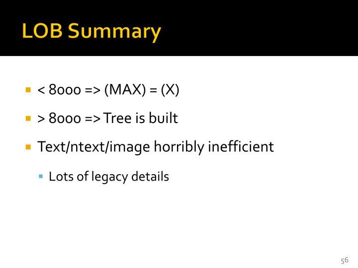 LOB Summary