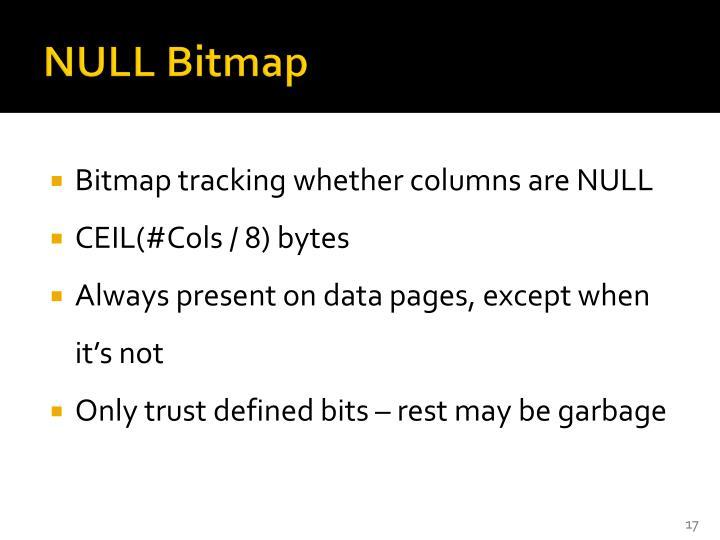NULL Bitmap