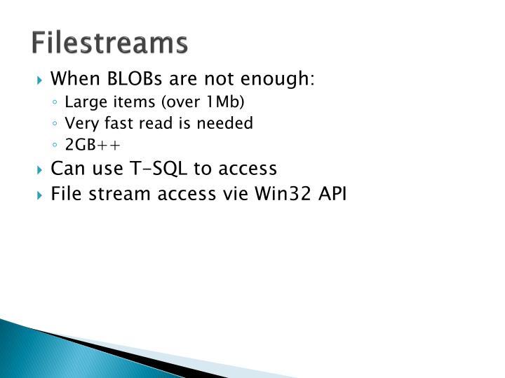 Filestreams