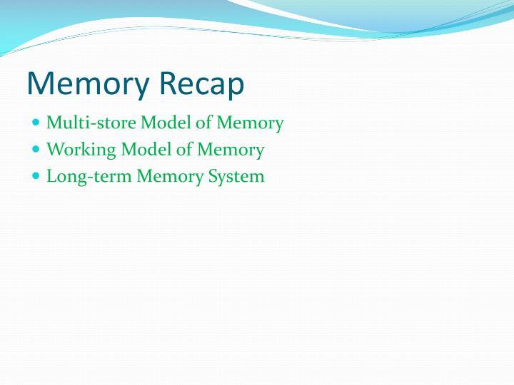 Memory Recap