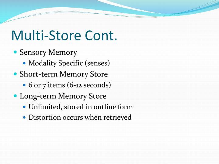 Multi-Store Cont.