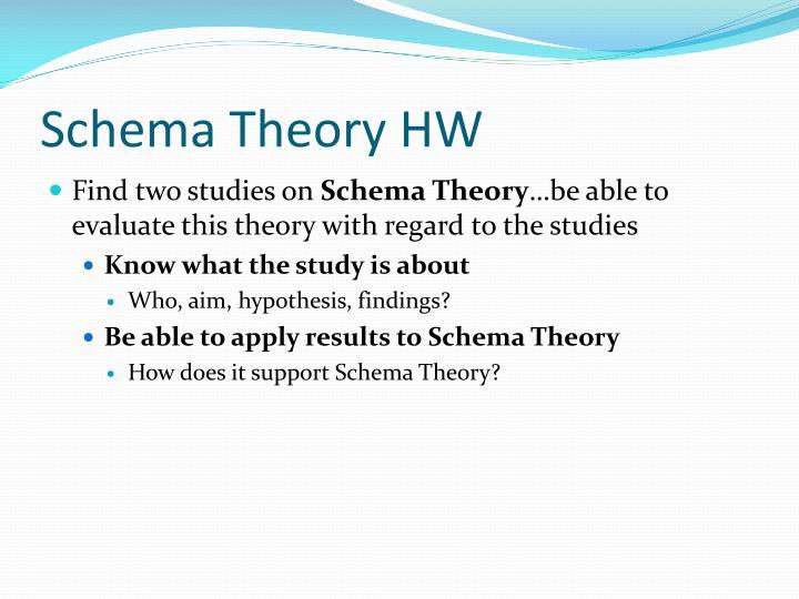 Schema Theory HW