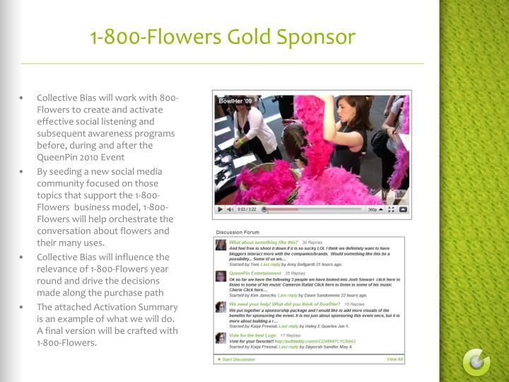 1-800-Flowers Gold Sponsor
