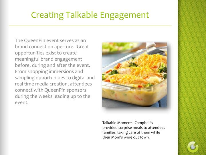 Creating Talkable Engagement