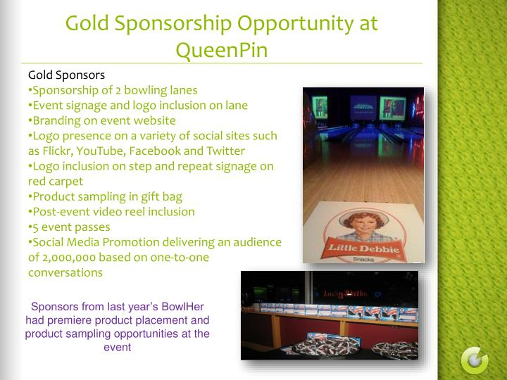 Gold Sponsorship Opportunity at QueenPin