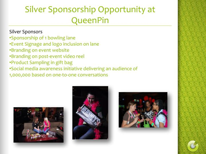 Silver Sponsorship Opportunity at QueenPin