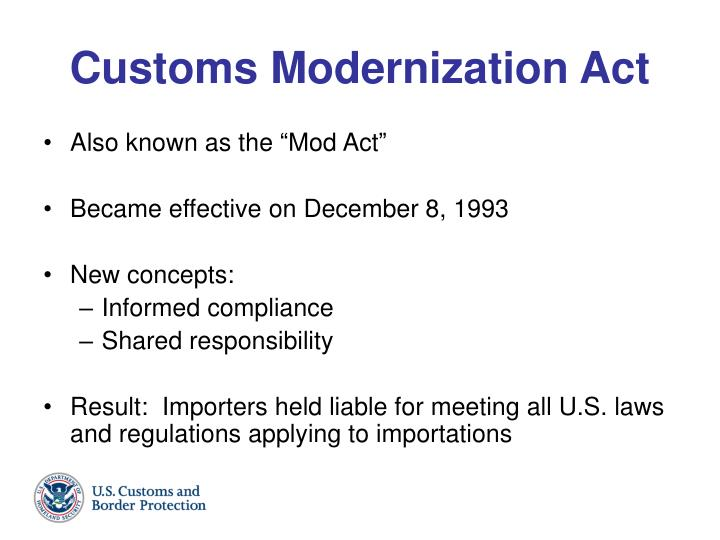 Customs Modernization Act