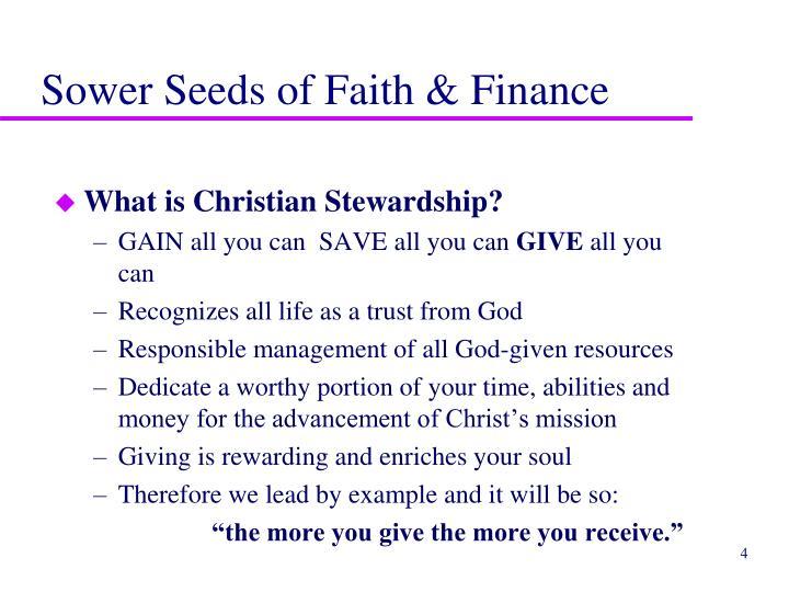 Sower Seeds of Faith & Finance