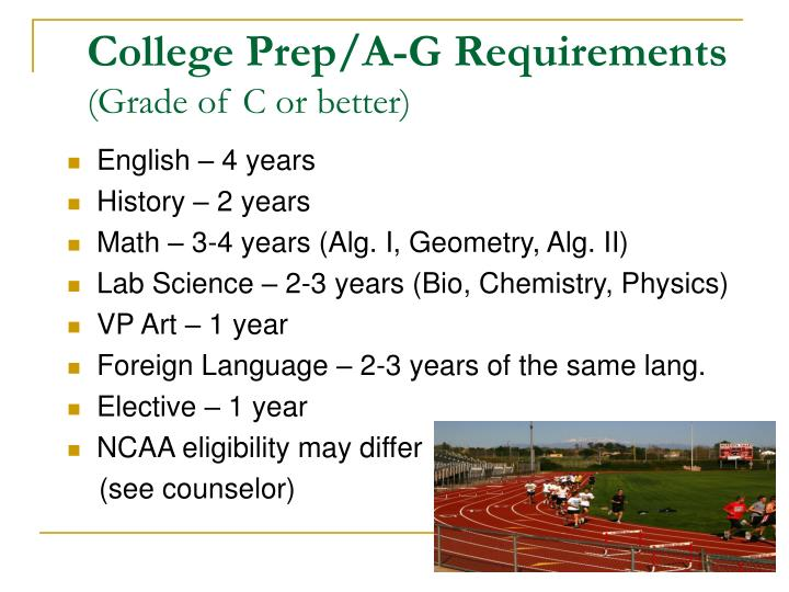 College Prep/A-G Requirements