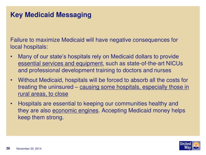 Key Medicaid Messaging