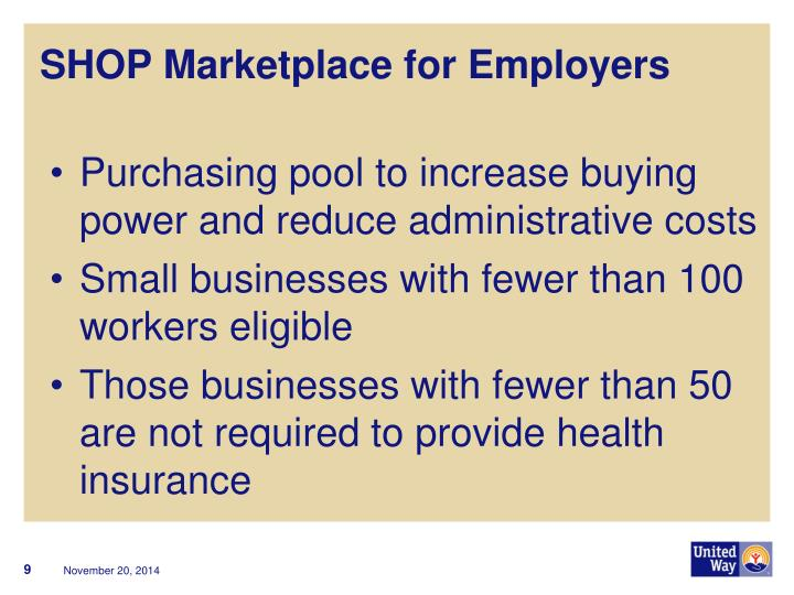 SHOP Marketplace for Employers