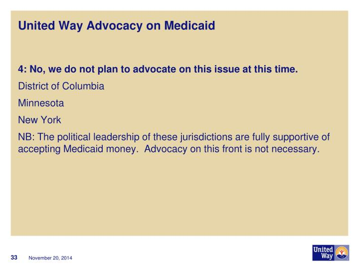 United Way Advocacy on Medicaid