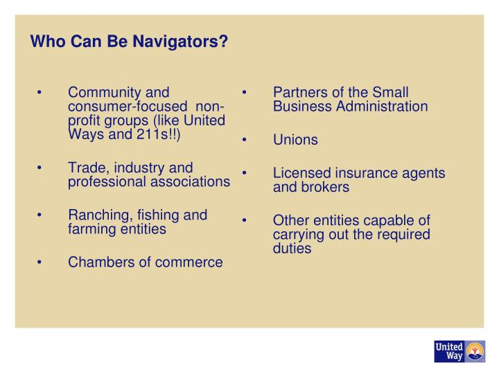 Who Can Be Navigators?