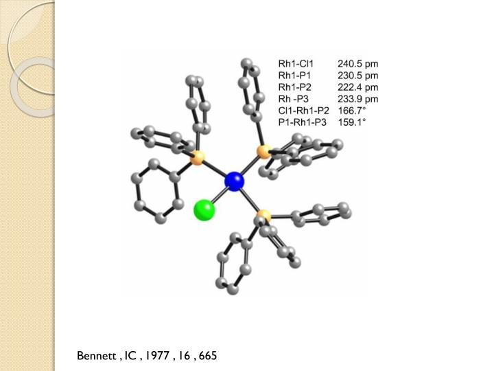Bennett , IC , 1977 , 16 , 665