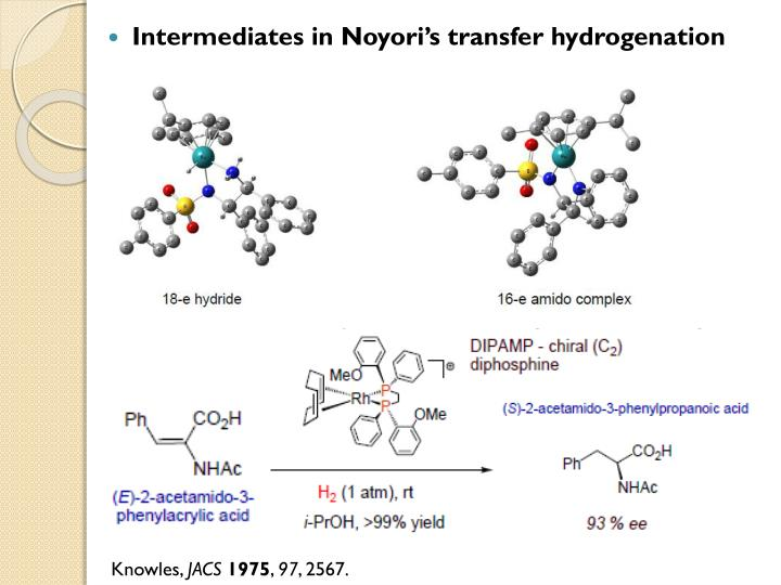 Intermediates in Noyori's transfer hydrogenation