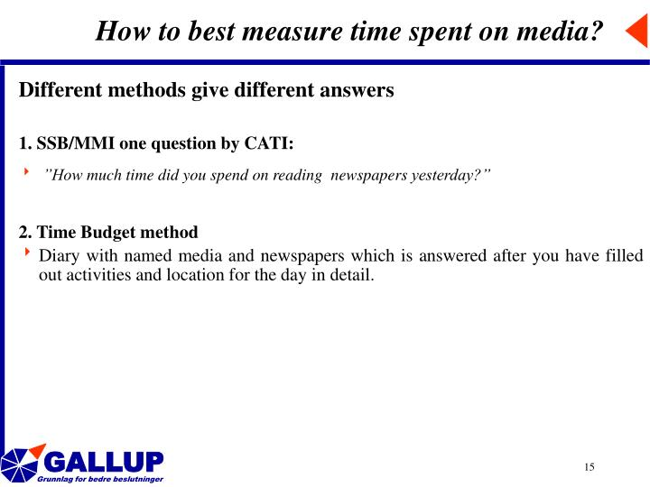 How to best measure time spent on media?