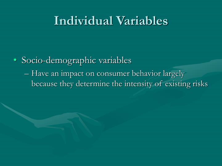 Individual Variables