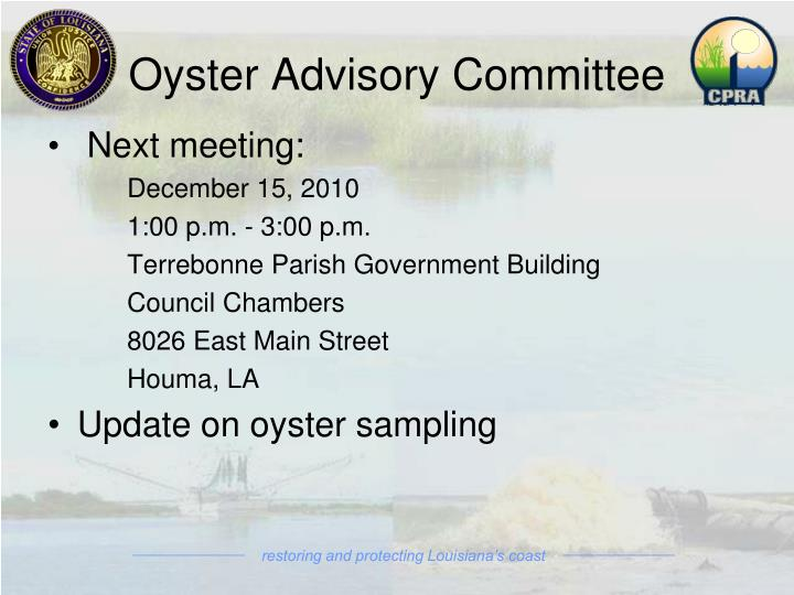 Oyster Advisory Committee