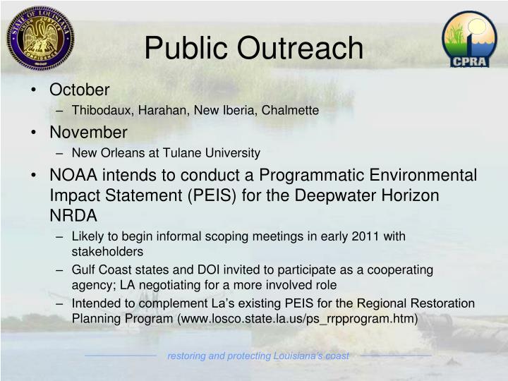 Public Outreach