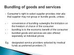 bundling of goods and services