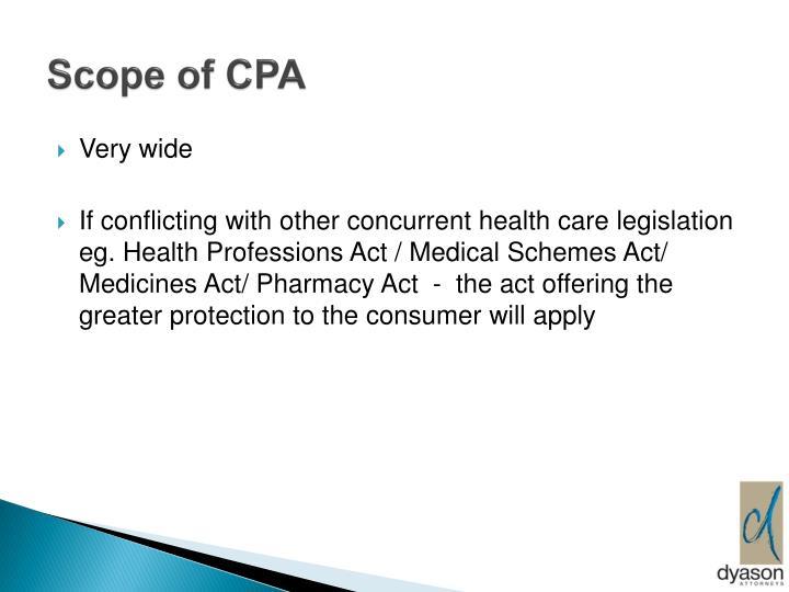 Scope of CPA