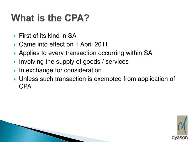 What is the cpa