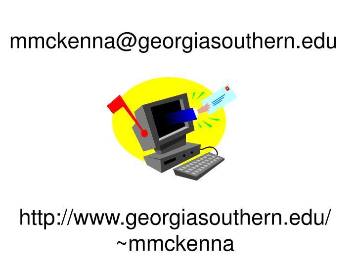 mmckenna@georgiasouthern.edu