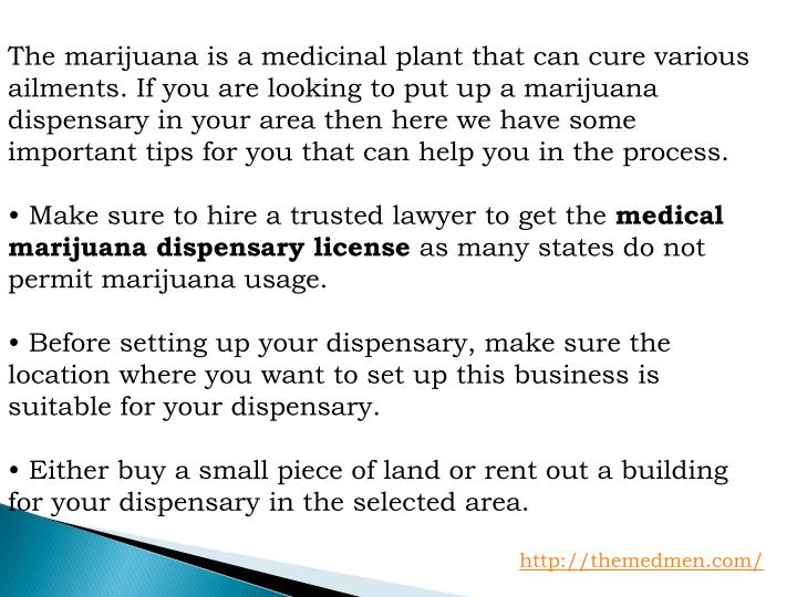 The marijuana is a medicinal plant that can cure various ailments. If you are looking to put up a ma...
