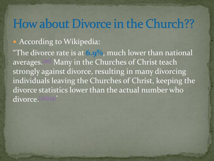 How about Divorce in the Church??