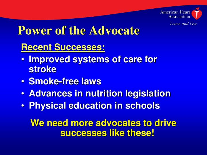 Power of the Advocate
