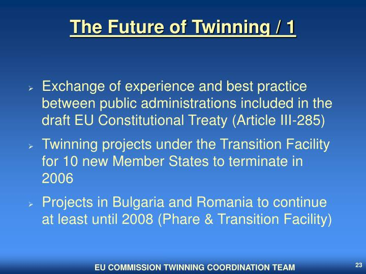 The Future of Twinning / 1