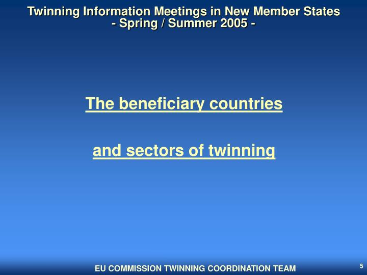 Twinning Information Meetings in New Member States