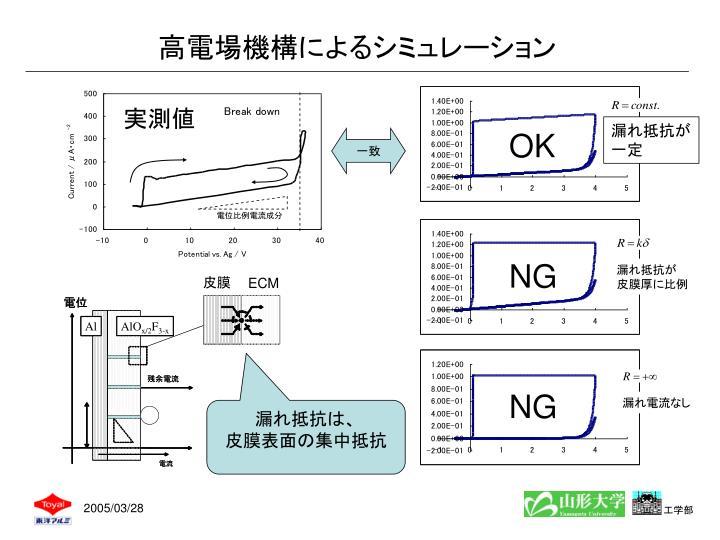 高電場機構によるシミュレーション